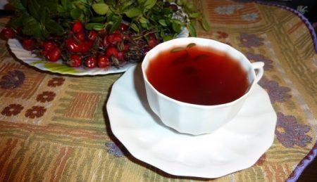 Пример чая из брусники