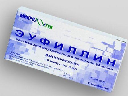 Пример препарата Эуфиллин