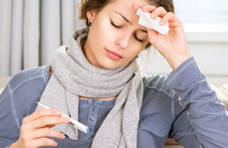 Повышение температуры – главный симптом ангины