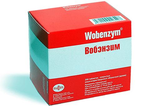 Пример препарата Вобэнзим